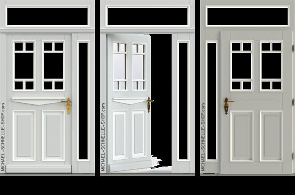 """Haustür """"Anklam"""" mit Oberlicht und Seitenteil"""