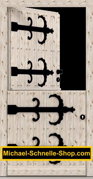 "Klöntür ""Wobbenbüll 3"" mit rustikal gehackter Oberfläche"