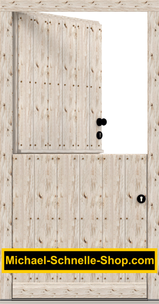 "Klöntür ""Wobbenbüll 1"" mit rustikal gehackter Oberfläche"
